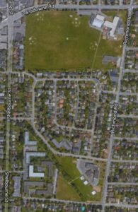 A google map image of a neighbourhood.